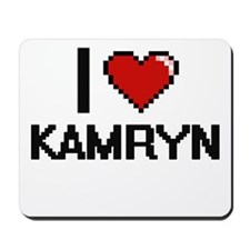 I Love Kamryn Digital Retro Design Mousepad