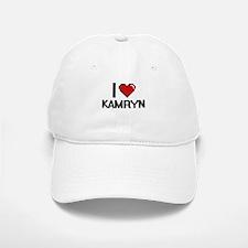 I Love Kamryn Digital Retro Design Baseball Baseball Cap