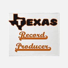 Texas Record Producer Throw Blanket