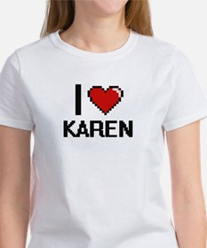 I Love Karen Digital Retro Design T-Shirt