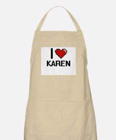 I Love Karen Digital Retro Design Apron
