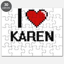 I Love Karen Digital Retro Design Puzzle