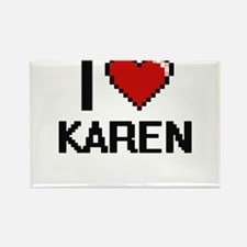 I Love Karen Digital Retro Design Magnets