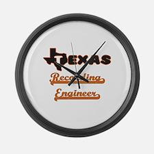 Texas Recording Engineer Large Wall Clock