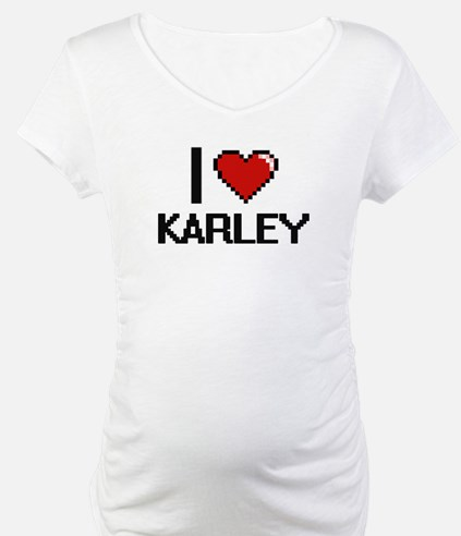 I Love Karley Digital Retro Desi Shirt