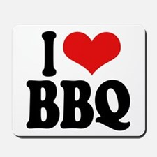 I Love BBQ Mousepad