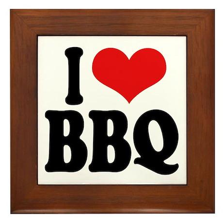 I Love BBQ Framed Tile