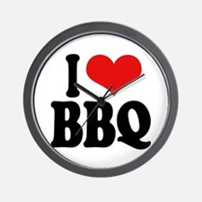 I Love BBQ Wall Clock