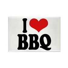 I Love BBQ Rectangle Magnet (10 pack)