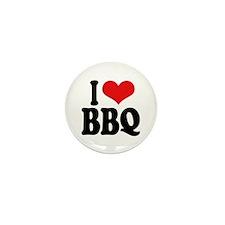 I Love BBQ Mini Button (10 pack)