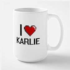I Love Karlie Digital Retro Design Mugs