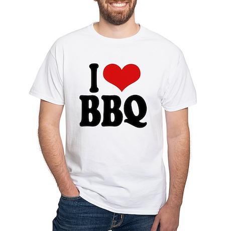I Love BBQ White T-Shirt