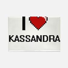 I Love Kassandra Digital Retro Design Magnets