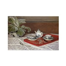 Monet - The Tea Set Rectangle Magnet
