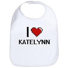I Love Katelynn Digital Retro Design Bib