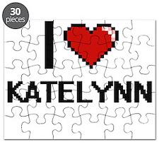 I Love Katelynn Digital Retro Design Puzzle
