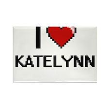 I Love Katelynn Digital Retro Design Magnets