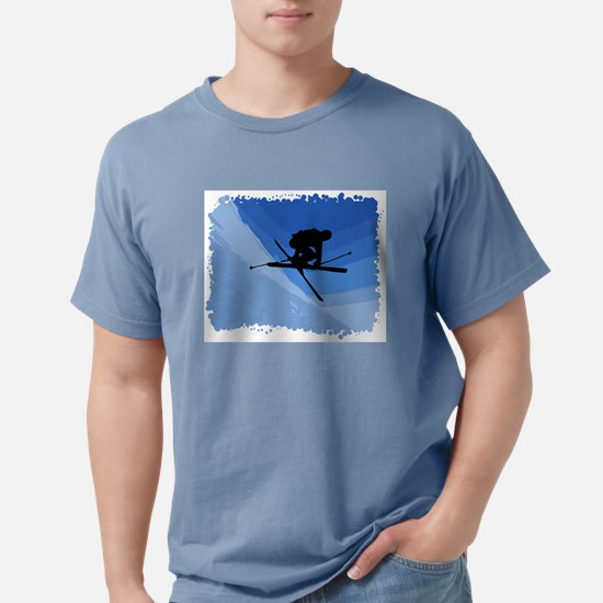 Skier Jumping Skis Crossed T-Shirt