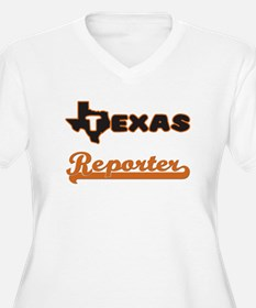 Texas Reporter Plus Size T-Shirt