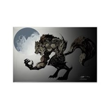 Werewolf Rectangle Magnet