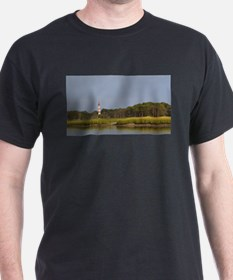 Asateague lighthouse across the marsh T-Shirt