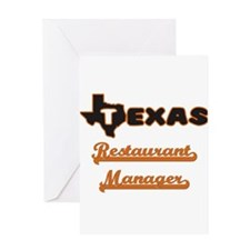 Texas Restaurant Manager Greeting Cards