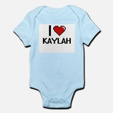 I Love Kaylah Digital Retro Design Body Suit