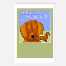 Adopt a Dachshund, Doxie Postcards (Package of 8)
