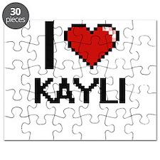 I Love Kayli Digital Retro Design Puzzle