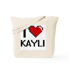 I Love Kayli Digital Retro Design Tote Bag