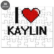 I Love Kaylin Digital Retro Design Puzzle