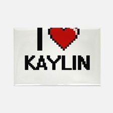 I Love Kaylin Digital Retro Design Magnets