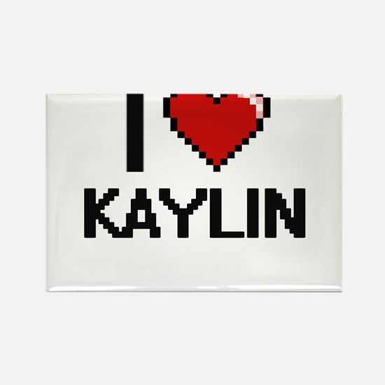 I Love Kaylin Digital Retro Design Magnets