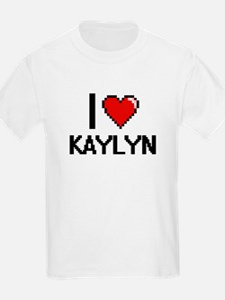 I Love Kaylyn Digital Retro Design T-Shirt