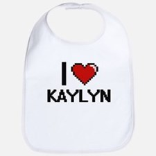 I Love Kaylyn Digital Retro Design Bib