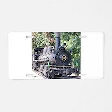 steam train close up shot Aluminum License Plate