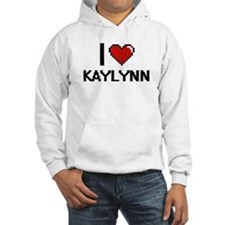 I Love Kaylynn Digital Retro Des Hoodie