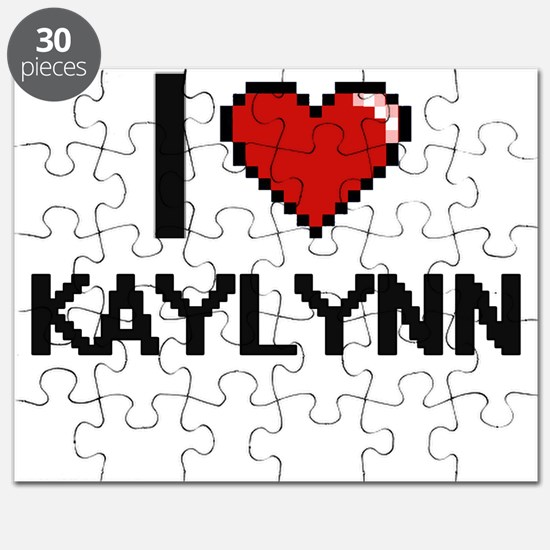 I Love Kaylynn Digital Retro Design Puzzle
