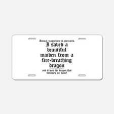 Animal Magnetism Aluminum License Plate