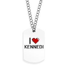 I Love Kennedi Digital Retro Design Dog Tags