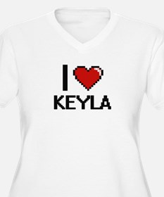I Love Keyla Digital Retro Desig Plus Size T-Shirt