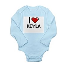 I Love Keyla Digital Retro Design Body Suit