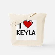 I Love Keyla Digital Retro Design Tote Bag