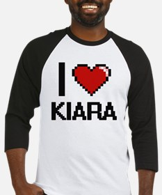 I Love Kiara Digital Retro Design Baseball Jersey
