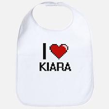 I Love Kiara Digital Retro Design Bib