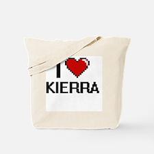 I Love Kierra Digital Retro Design Tote Bag