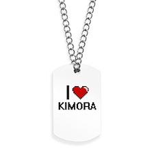 I Love Kimora Digital Retro Design Dog Tags