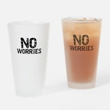 Funny Worries Drinking Glass