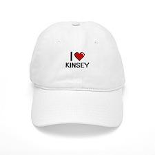 I Love Kinsey Digital Retro Design Baseball Cap