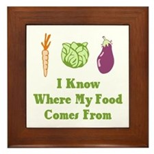 My Food Framed Tile